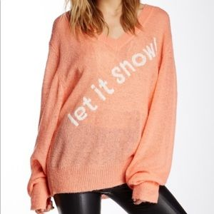 "Wildfox ""Let It Snow"" Sweater"